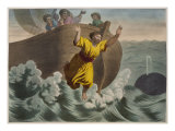 Jonah Thrown into the Sea, Illustration from a Catechism 'L'Histoire Sainte', Published by Charles  Giclee Print