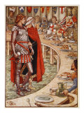Sir Galahad is brought to Court of King Arthur, from 'Stories of Knights of Round Table' Giclee Print by Walter Crane