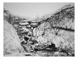 Dead Confederate Sharpshooter at Round Top, Gettysburg, July 1863 Gicle-tryk af Alexander Gardner