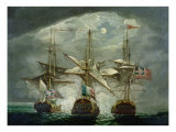 A Moonlit Battle Scene Giclee Print by Robert Cleveley