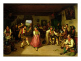 Target Shooting and Dancing in Oberbayern, 1841 Giclee Print by Kaspar Kaltenmoser