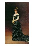 Portrait of Madame Bishoffsheim, 1877 Giclee Print by Leon Joseph Florentin Bonnat