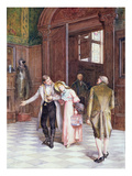 Crossing the Threshold, the New Bride, 1886 Giclee Print by Henry Gillard Glindoni
