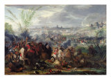 Study for Siege of a Flemish Town Giclee Print by Adam Frans van der Meulen