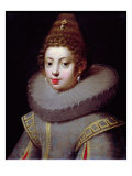 Portrait of a Lady, said to be Marguerite de Valois Giclee Print by Claude Deruet