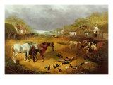 A Farmyard in Spring Giclee Print by John Frederick Herring II