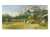 Printemps Reproduction procédé giclée par Sir Alfred East