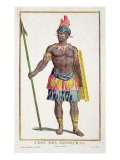 Chief of the Hondurans, 1780 Giclee Print by Pierre Duflos