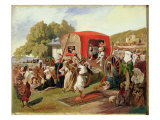 Outdoor Fete in Turkey, c.1830-60 Giclee Print by Grigori Grigorevich Gagarin
