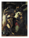 Christ Adored by Angels, St. Sebastian and St. Bonaventure Giclee Print by Carlo Bononi