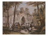 Arch of Labna, Yucatan, Mexico, Illustration from 'Views of Ancient Monuments in Central America' Giclee Print by Frederick Catherwood