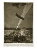 The Zeppelin Bombardment of Antwerp on August 24 1914 in Defiance of the Hague Convention, 1914-19 Giclee Print