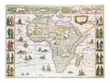 Africa Nova, c.1617 Giclee Print by Willem Blaeu