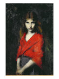 Portrait of a Young Girl, The Shiverer Giclee Print by Jean-Jacques Henner
