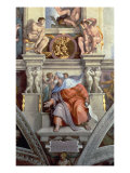 Sistine Chapel Ceiling: the Prophet Ezekiel, 1510 Giclee Print by Michelangelo Buonarroti 