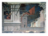 The Martyrdom of St. Christopher, Detail of the Buildings, c.1450-56 Giclee Print by Andrea Mantegna