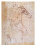 Study of a Male Nude Giclee Print by  Michelangelo Buonarroti