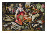 Martha Preparing the Meal for Jesus or Jesus at the House of Martha and Mary Giclee Print by Vincenzo Campi