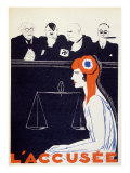 The Accused, 1934 Giclee Print by Paul Iribe