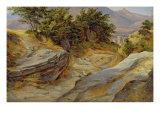 Italian Mountain Landscape, c.1824 Giclee Print by Joachim Faber
