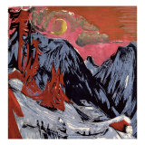 Mountains in Winter, 1919 Giclee Print by Ernst Ludwig Kirchner
