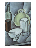 Still Life with a Bottle of Wine and an Earthenware Water Jug, 1911 Giclee Print by Juan Gris