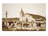 The Spanish Mission, Santa Clara de Asis, California in 1777 Giclee Print by  American School