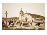 The Spanish Mission, Santa Clara de Asis, California in 1777 Giclee Print
