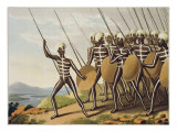Warriors of New South Wales, engraved by Matthew Dubourg Giclee Print by John Heaviside Clark