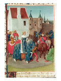 Entry into Paris of King Jean II Giclee Print by Jean Fouquet