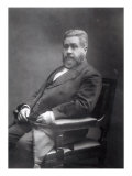 Reverend Charles Haddon Spurgeon Giclee Print by Elliott & Fry Studio