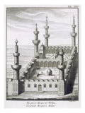 The Great Mosque at Medina, from 'Voyages en Arabie et en Autres Pays de l'Orient', engraved by Le  Giclee Print by Carsten Niebuhr