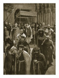The Recess after Coronation of Richard II, Vigil of St. Kenelm, from 'The Illustrated London News' Reproduction procédé giclée par Amedee Forestier