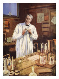 Thomas Edison in His Workshop Giclee Print by John Cameron