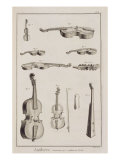 Instruments Played with a Bow, from the Encyclopedia of Denis Diderot Giclee Print by Robert Benard