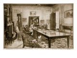 Controlling Fourteen Hundred Shell Factories: Mr Lloyd George, Minister of Munitions, at Work Giclee Print by Samuel Begg