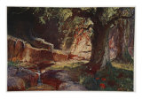 Fafner in his Cave, 1906 Giclee Print by Hermann Hendrich