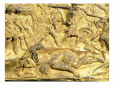 David and Goliath, Detail from the Original Panel from the East Doors of the Baptistery, 1425-52 Giclée-tryk af Lorenzo Ghiberti