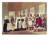 Meeting between Louis XIII Giclee Print by Hippolyte Lecomte