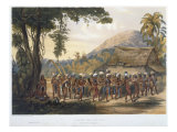 Caribi Village Anai, near River Rupununi, 'Views in Interior of Guiana', engraved by Coke Smith Giclee Print by Charles Bentley