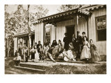 General Heintzelman Entertaining Friends at the Convalescent Camp, Alexandria, 1861-65 Giclee Print by Mathew Brady & Studio