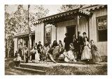 General Heintzelman Entertaining Friends at the Convalescent Camp, Alexandria, 1861-65 Giclee Print by Mathew Brady & Studio