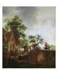 Travellers by an Inn Giclee Print by Isack van Ostade