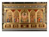Coronation of the Virgin Polyptych Giclee Print by Ambrogio Bondone Giotto