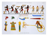 Archers of Army and Military Items, from a Rare Record of Frescoes from Thebes, recorded 1819-1822 Giclee Print by Frederic Cailliaud