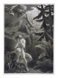 Adam Lamenting his Sinfulness, from a French edition of 'Paradise Lost' by John Milton Giclee Print by Richard Edmond Flatters