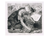 A Learned Man Absorbed in the Koran, 19th century Giclee Print by Karl Wilhelm Gentz