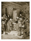 Robert Bruce Conferring a Charter, 1329, Illustration from 'Hutchinson's Story of British Nation' Giclee Print by William Brassey Hole