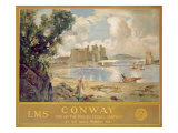 Conway Castle, Poster Advertising the London, Midland and Scottish Railway, c.1930 Giclee Print by Sir David Murray