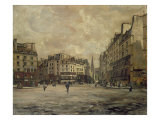 Place Maubert, Paris, 1888 Giclee Print by Emmanuel Lansyer